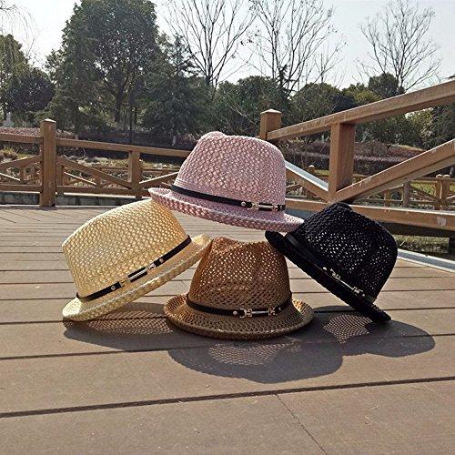 2017 v¨ºtements chapeaux dames chapeaux d¡¯¨¦t¨¦ femmes chapeaux de plage fille chapeau de paille femme chapeau Panama chapeau de voyage Black