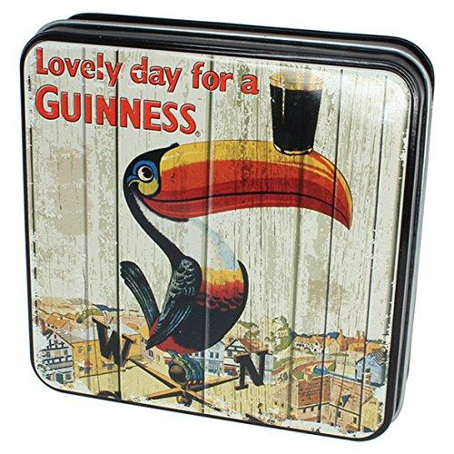 Guinness Fudge in Geschenkdose verziert mit Tukan und Wetterfahne, 100g
