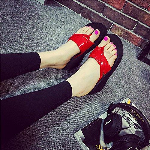 Estate Sandali 6,5 cm ciabatte estive femminili con tacco ciabatte tacco alto Moda Scarpe casuali della spiaggia Colore / formato facoltativo 1006