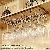 Global- Portabottiglie da vino in bronzo/porta calici/portabicchieri/porta bicchiere da vino rosso, ornamenti bar armadietto multifunzione - larghezza 20 cm (dimensioni : 50cm)