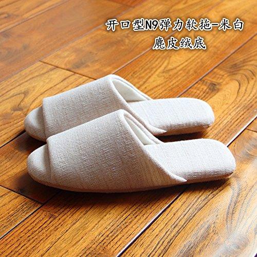 LaxBa Donna Uomo Indoor pattino antiscivolo pantofole M bianco