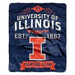 Northwest NCAA Illinois Illini Label Raschel 50