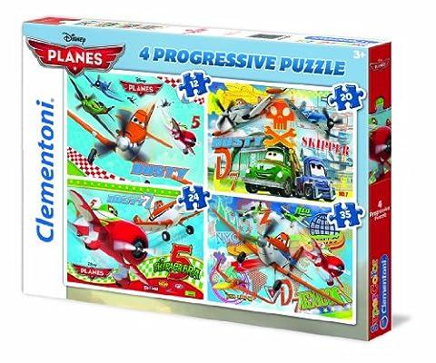 Clementoni - 21505.8 - Puzzle - 4 en 1 - Planes - 12 + 20 + 24+ 35 Pièces