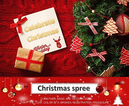 Cutecocoa Familie Weihnachtsschmuck Weihnachtsbummel Weihnachtsbaum Geschenktüte Christbaumschmuck Anhänger Paket Paket Schneeball Schneeflocke Bogen Band Band Urlaub Essentials@DREI -