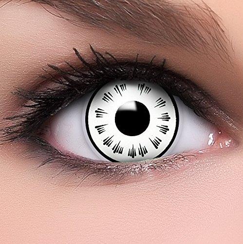 Sharingan Kontaktlinsen Byakugan in weiß inkl. Behälter - Top Linsenfinder Markenqualität, 1Paar (2 Stück)