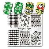 BeautyBigbang Stamping Schablone Plate Nagelstempel Schablonen Stempelschalone Nägel Weihnachten BeautyBigbang 14