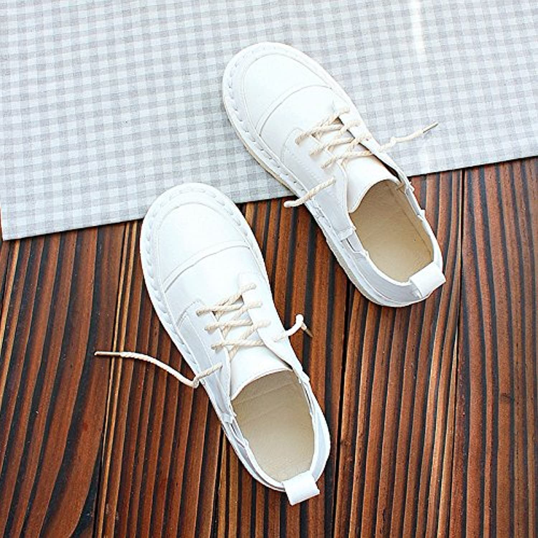 Wuyulunbi@ Frein faible printemps chaussures, chaussures couleur couleur couleur blanc pur, chaussures, chaussures à semelle plate - B079DQC19S - 241086