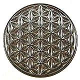 EnerChrom Blume des Lebens Auto-Glücksbringer Metall-Magnet-Plakette (Silber) 2,3 Zentimeter