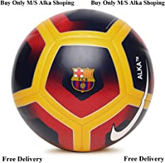 Rasco 12 Panel FCB Red Hand Stitched Football (Size-5)