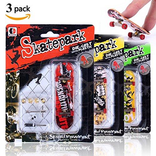 Mini Fingerboard, 3 Pack Professionelle Finger Skateboard für Tech Deck Skatepark Spielzeug Spiele Kinder Weihnachtsgeschenk (3 Pack)