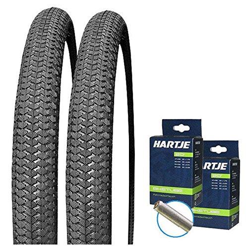 KENDA Set: 2 x Kiniption BMX Fahrrad Reifen 54-406/20x2.10 + 2 SCHLÄUCHE Autoventil