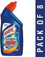 Harpic Power Plus Disinfectant Toilet Cleaner, Orange, 500ml (Pack of 8)