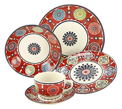 Creatable 19718. Serie Sumaya Pink, 30 teilig Kombiservice, Porzellan, Mehrfarbig 40 x 32.5 x 32.5 cm Einheiten