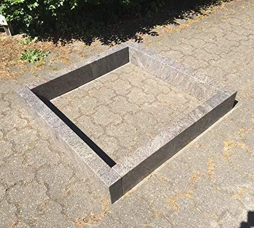 Stone & More Paradiso Bordure en Granit 80 x 80 x 15 cm x 6 cm Bordure funéraire 80 x 80 cm Bordure Paradiso 80 x 80 cm Hauteur 15 cm Épaisseur 6 cm