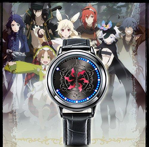 SKYLYNN Anime Cosplay Armbanduhr unisex Mode LED-Touchscreen (Rokka no (Anime Uhr Cosplay Armbanduhr)