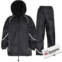 Salzmann 3M Tuta Antipioggia Riflettente | Impermeabile e Antivento | Set di Giacca e Pantaloni da Pioggia | Realizzato…