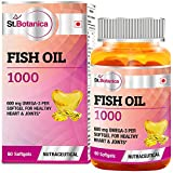 St.Botanica Fish Oil 1000 mg (Double Strength) with 600 mg Omega 3 - 60 Softgels (330mg EPA, 220mg DHA)
