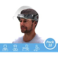 Steelbird SB-43 Flip-up Face Shield, Face Protection Shield, Full Face Protector For All Front Line Warriors (Doctors, Nurses, Police, Shopkeepers, Any staff) (Pack of 10)