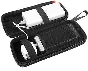 Powerbank Case, Stoßfestes Schutzhülle Tasche Universal Hülle EVA Hart Reise Hardcase für Anker 20100/26800mah/Poweradd 20000mAh/Solarladegerät 24000mAh/Ravpower 26800mAh/Aukey 20000mAh, Wetterfeste Reisetasche für externen Akku