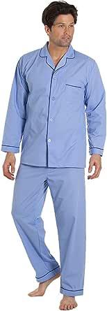 Haigman Mens Easy Care Poly Cotton Pyjamas Pajamas Nightwear Long Sleeve S-3XL