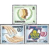 Gibraltar 497-499 (completa.edición.) 1985 año el juventud (sellos para los coleccionistas)