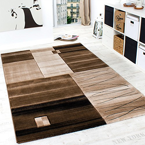 Luxury Designer Rug   Contour Cut   Geometric   Mottled Brown Beige Cream,  Size:80x150 Cm Part 43