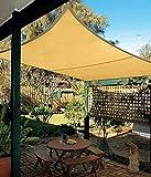 KOKR Wasserfest Sonnensegel, Rechteck Sonnenschutz UV-Schutz Wasserabweisend Imprägniert Sonnensegel,3 * 3M