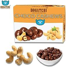 BOGATCHI Chocolate Coated Cashews, Rich Dark Chocolate Coated Dry Fruits, 200g