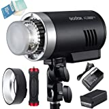 Godox AD300Pro Outdoor Flash, 300w 2.4G TTL Flash Strobe Speedlite, 1/8000 HSS, 320 Full Power Pop, 5600±100K Stable Color, 1