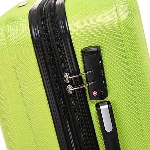 BEIBYE TSA-Schloß 2080 Hangepäck Zwillingsrollen neu Reisekoffer Koffer Trolley Hartschale Set-XL-L-M(Boardcase) in 12 Farben (Grün, 3tlg. Kofferset) - 5