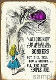 'Have I gone Mad?' Alice in Wonderland colourful pop art Poster A4
