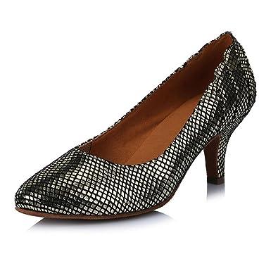 YFF Damen Latein tango Ballroom Dance Schuhe für Frauen/Damen/Mädchen Tango, 7 cm Rot, 9.