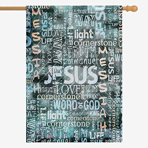 InterestPrint christlichen Bibel Schriftzug Ostern Hat er Risen Garden Flagge Deko für Haus und Garten Dekorationen, House Banner 30,5x 45,7cm (Ohne Fahnenstange) 28 x 40 Sort 5