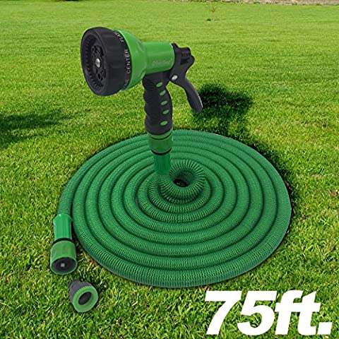 The Best Expandable Garden Hose 75ft . The Strongest Garden Hose on amazon! Super strong! Will never leak. Indestructible Triple Layered Latex Core with Hardened Plastic Connectors. No kink flexible MAGIC