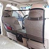 FREESOO Cane Auto Separatore Auto Barriera per Cani per Cane Protezione dell'Auto Pet Sicurezza Portatile Pet Net Barrier in Rete 115cm*62cm