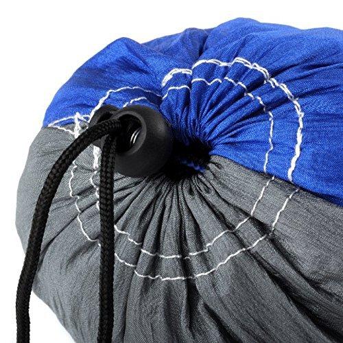 RocFitness® Hängematte aus 100% RipStop Nylon (Fallschirmseide) inkl. 2 Spezialschlaufen für besseren Halt - 6