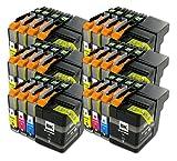 The Ink Squid 6set di LC129x L/LC125X L Brother compatibile Non-OEM cartucce di inchiostro per il fratello mfc-j6520ddw MFC-J6720DW mfc-6920dw stampanti