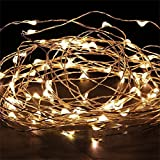 ILOVEDIY Guirlande Lumineuse Cuivre Fil led Pile - Guinguette Deco Noel Chambre Interieure Exterieur (3m 30-LEDs, Blanche chaude)...