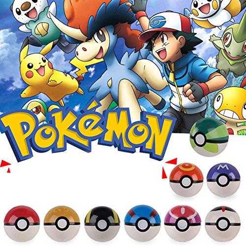 9x Pokemon pikachu Pokeball Cosplay Pop-up Master Great Ultra GS poke BALL Toy (Pokemon-master-set)