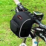 Erasky® Wasserabweisende BTR-Fahrradtasche Rahmentasche Lenkertasche Wasserdichtzur Befestigung am Lenker mit