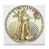 CafePress–Die Freiheit gold Medaille–Tile Untersetzer, Drink Untersetzer, Untersetzer, Klein