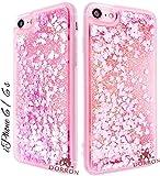 DORRON Glitter Bling Stylish Designer Transparent Liquid Waterfall Soft Fancy Back Phone Case