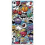 Funda Gel Flexible Huawei Ascend P7 BeCool Grafiti de Colores Divertido Carcasa Case Silicona TPU Suave
