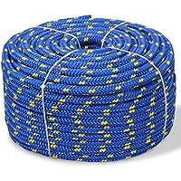 Festnight Cuerda de Polipropileno 10 mm 50 m Azul