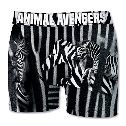 Crazy Boxer Herren Boxershort/Retroshort Fun-Edition, MEGA-Designs (XL/7/52, Zebra)