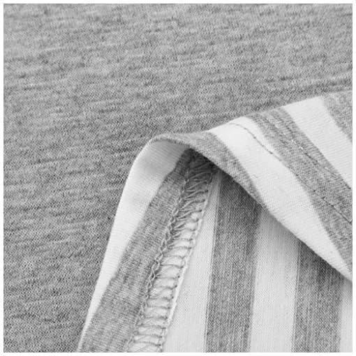 Damen-Tops-Rovinci-Herbst-34-rmel-T-Shirt-Lose-O-Ausschnitt-Pulli-Tanktop-Gestreift-Drucken-Top-Spitze-Patchwork-Bluse-Tank-Langarm-Oberteile-Sommertop-Strandtop-Longshirt