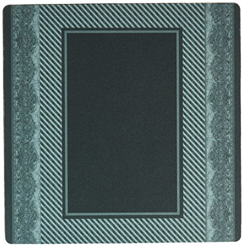 3drose LLC 20,3x 20,3x 0,6cm Maus Pad, deep teal grün gestreift und Damast Band Rahmen (MP _ 33411_ 1)