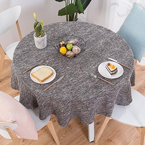 XJ&DD Stoff-tischdecke,Volltonfarbe Baumwolle Einfache Runde Für Coffee Table Esstisch Home Hotel-D...