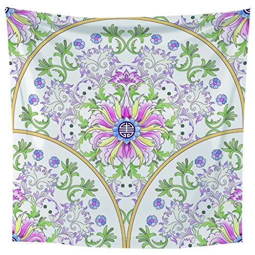 laoniebaozhuang Wandteppich Grau Silber Mandala Wandbehang/indische Baumwolle Boho Böhmische Psychedelische Hippie Werfen/EIN Yoga Mat Strand Teppiche Handtuch Decke 150x90cm pro -