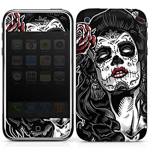 DeinDesign Apple iPhone 3Gs Folie Skin Sticker aus Vinyl-Folie Aufkleber Zombie Catrina Halloween